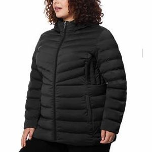 NEW! Black Puffer 32 Degrees Hooded Stretch